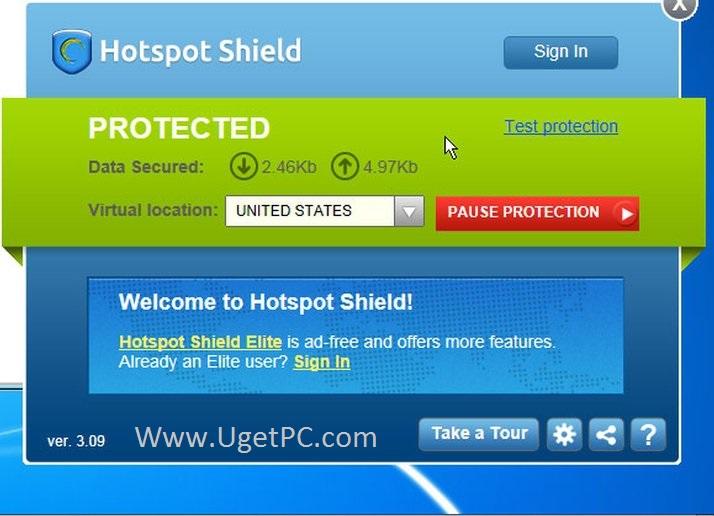 Hotspot-Shield-VPN-on-Ugetpc