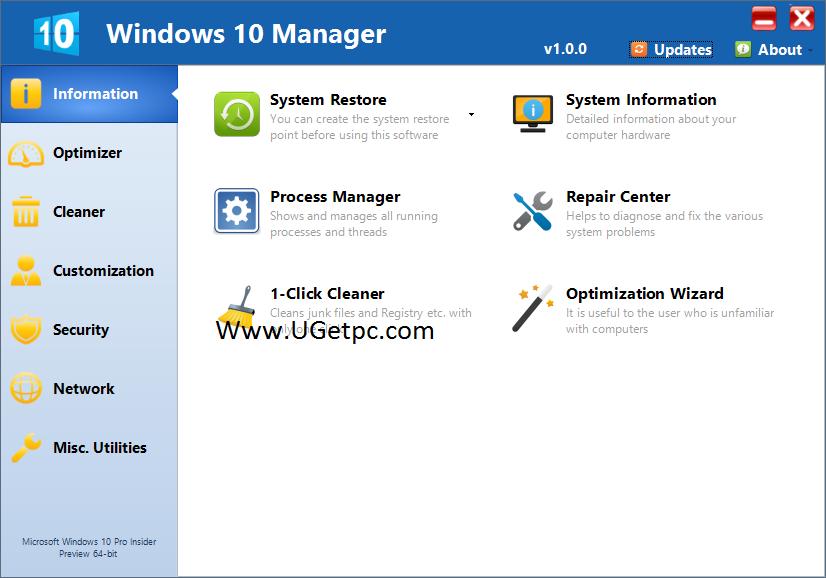 Windows-10-Manager-ugetpc