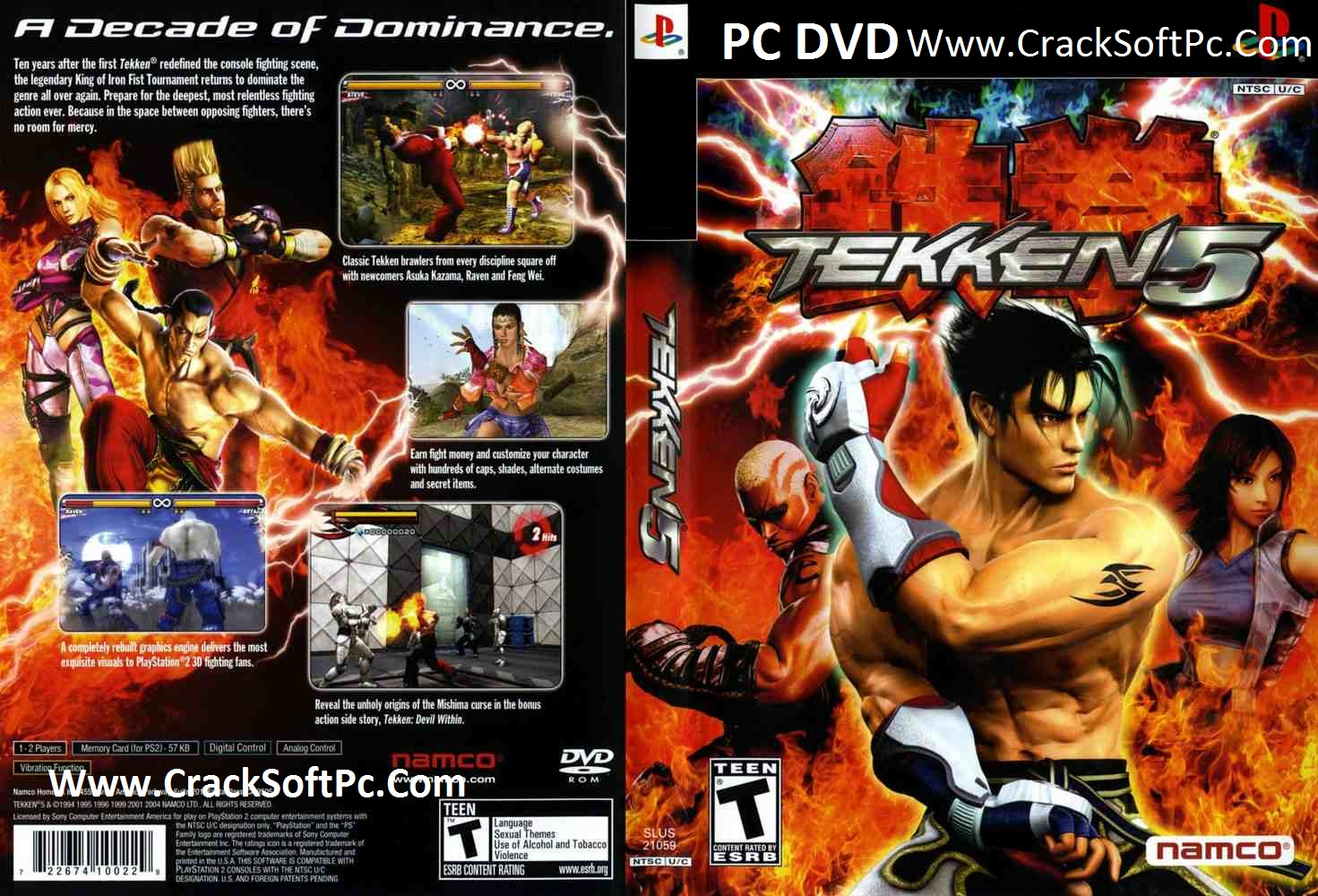 Tekken 5 game-Free-Cover-CrackSoftPc