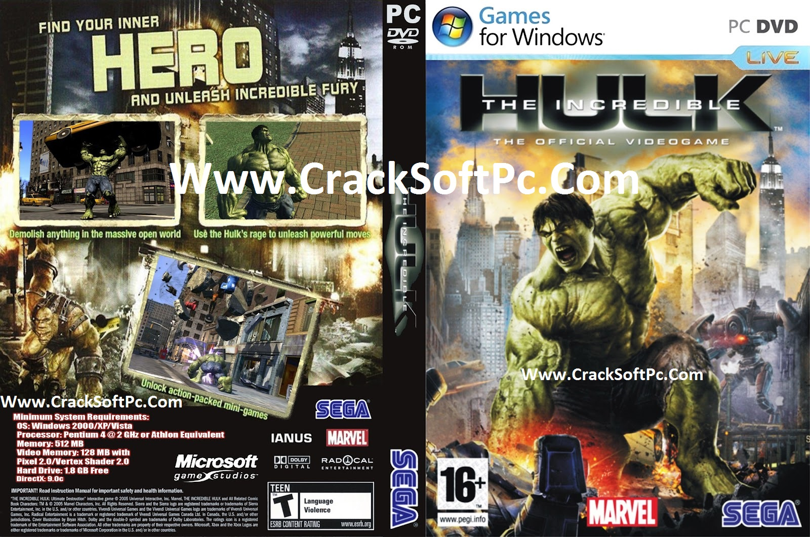 The Incredible Hulk Game Free Download-Cover-CrackSoftPC